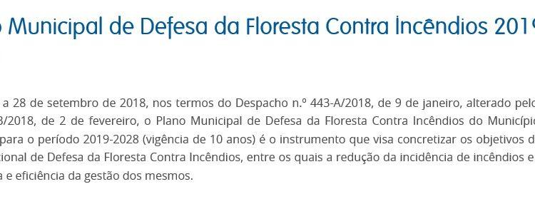 Plano Municipal de Defesa da Floresta Contra Incêndios 2019-2028