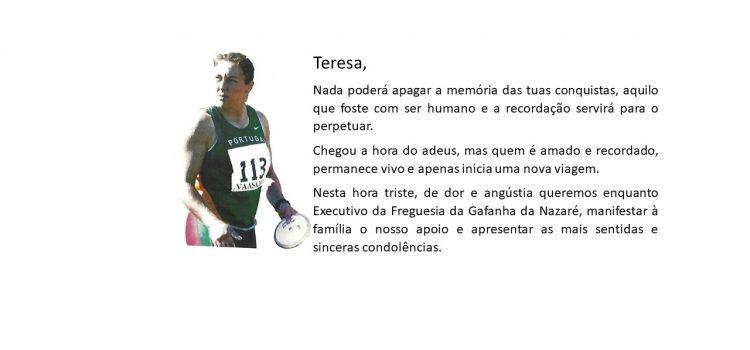 Falecimento de Teresa Machado