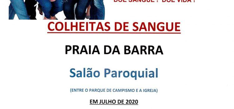 Colheitas de Sangue – Praia da Barra 2020