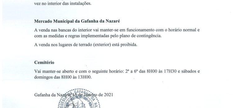 Informação geral dos Serviços da Junta de Freguesia da Gafanha da Nazaré