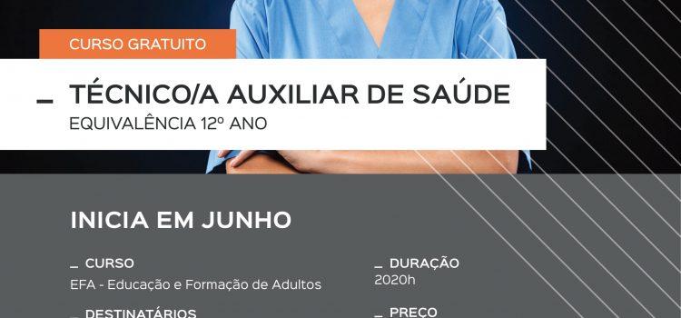 Curso Técnico/a Auxiliar de Saúde – equivalência 12º ano