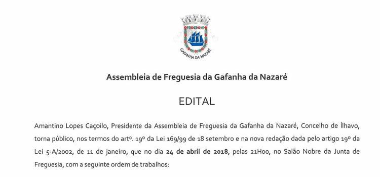 Assembleia de Freguesia da Gafanha da Nazaré