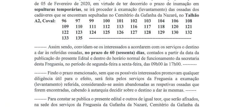 Edital Cemitério – 01/2020