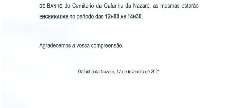Aviso – Cemitério da Gafanha da Nazaré